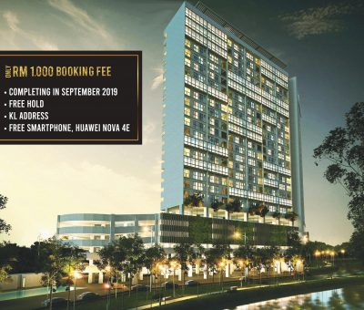 With a booking fee of RM1000, You Can Own A Property In KL!